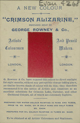 Advert for George Rowney & Co, paint manufacturer